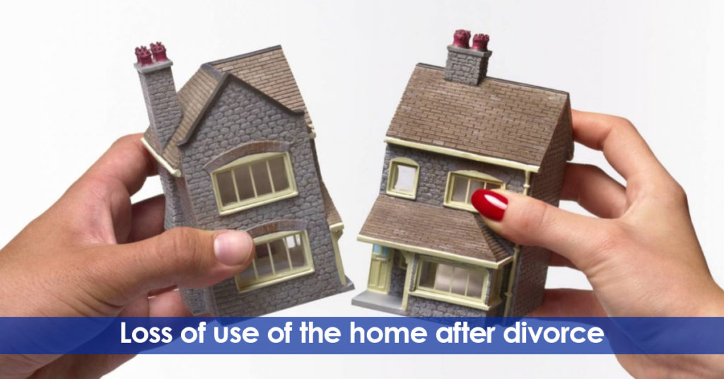 Loss of use of the home after divorce. Living with a third party