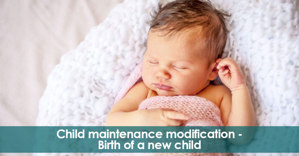 Child maintenance modification. Birth of new children