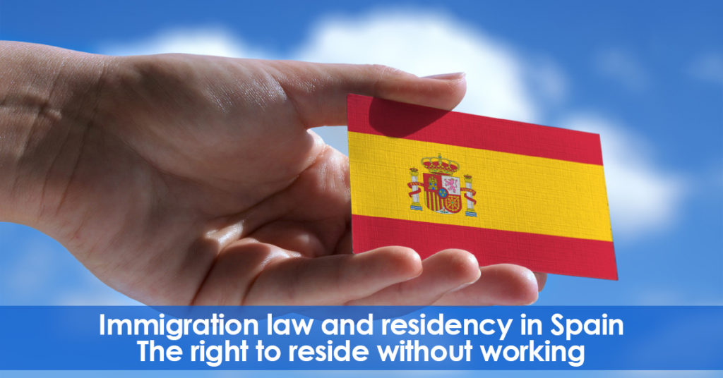 Residency in Spain without the right to work. (Non-Profit)