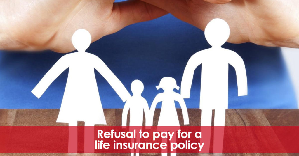 Insurers. Refusal to pay for a life insurance policy. Previous disease