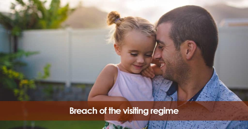 Civil liability breach of the visiting regime. Spanish Family Law.