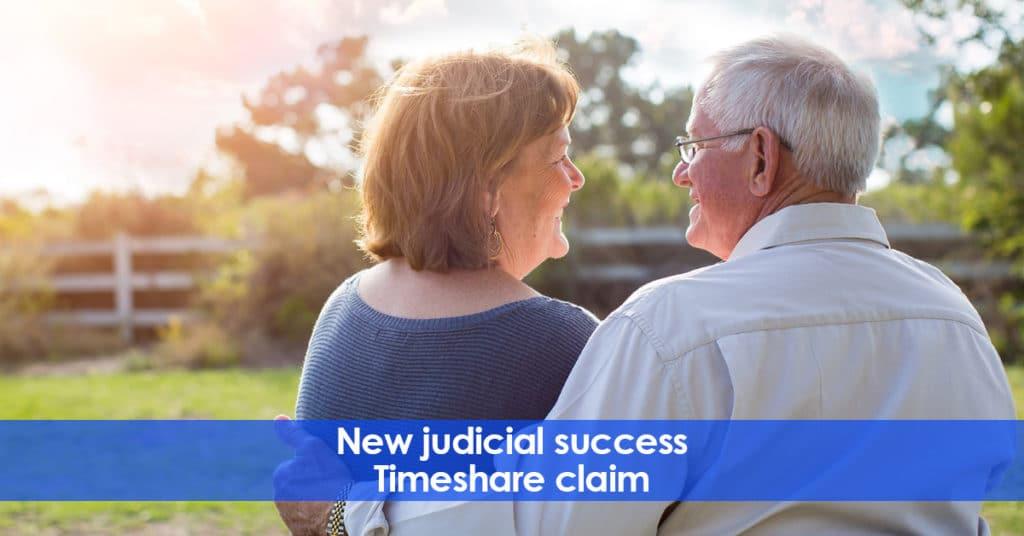 New judicial success. Timeshare claim.